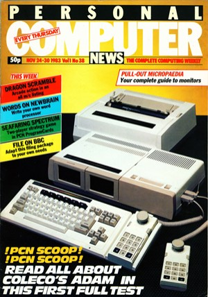 Personal Computer News 24 November 1983 Cover